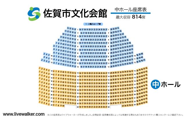 佐賀市文化会館中ホールの座席表