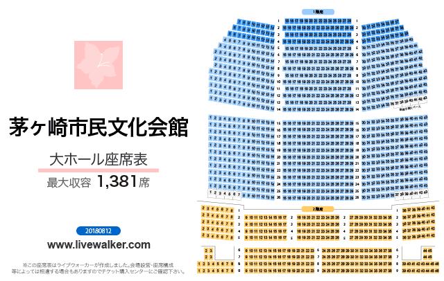 茅ヶ崎市民文化会館大ホールの座席表