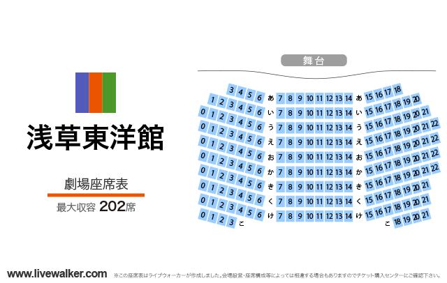 浅草東洋館劇場の座席表
