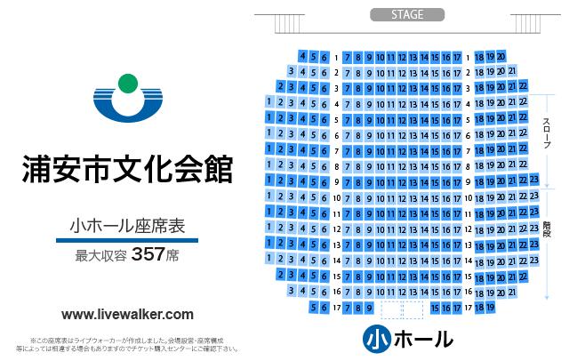 浦安市文化会館小ホールの座席表