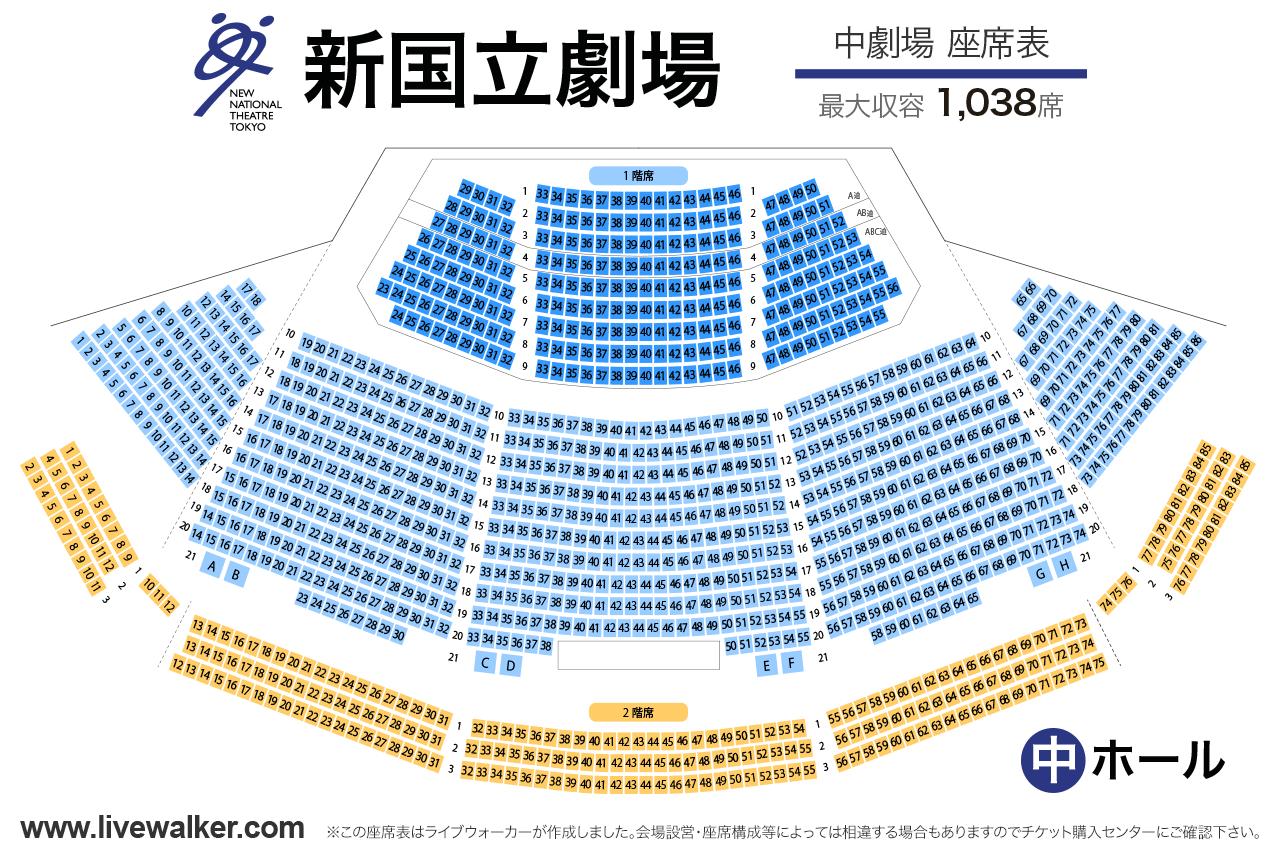 新国立劇場中劇場の座席表