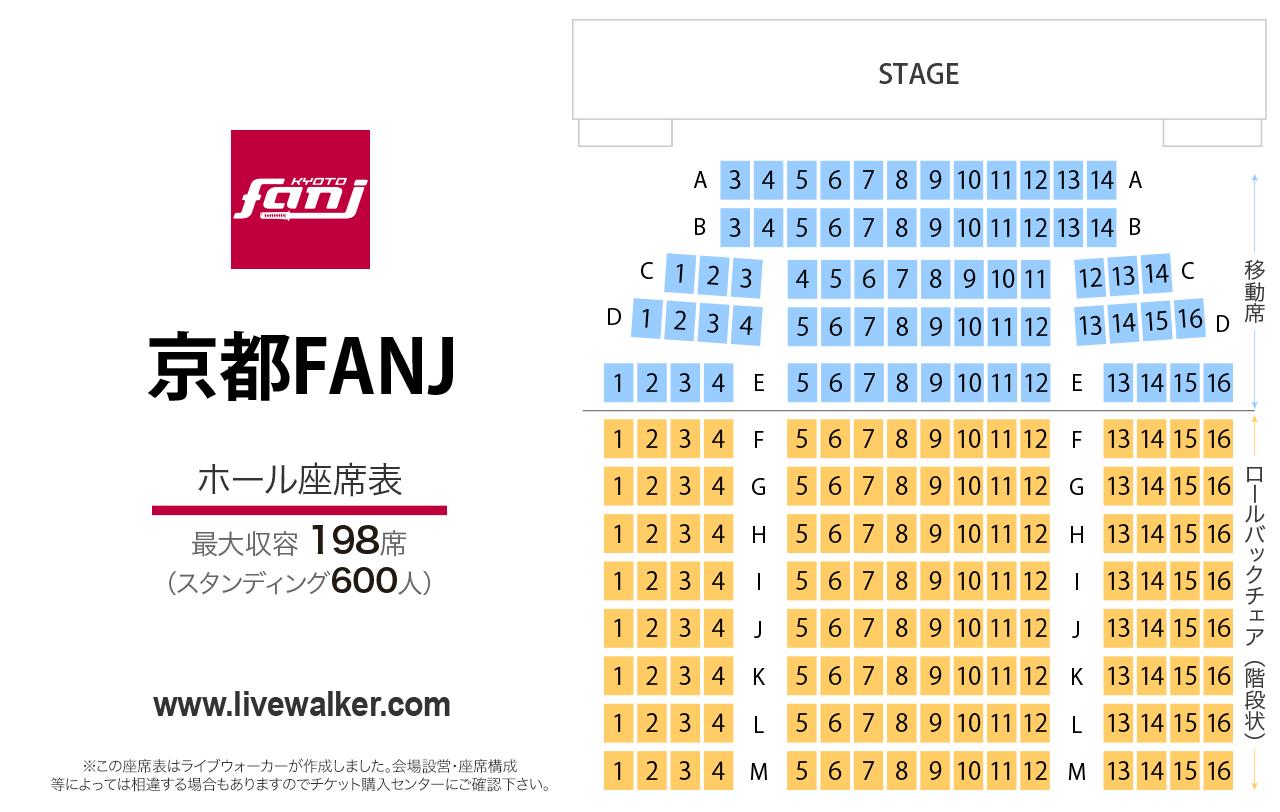 京都FANJホールの座席表