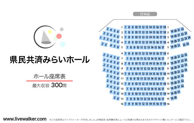 県民共済みらいホールホールの座席表