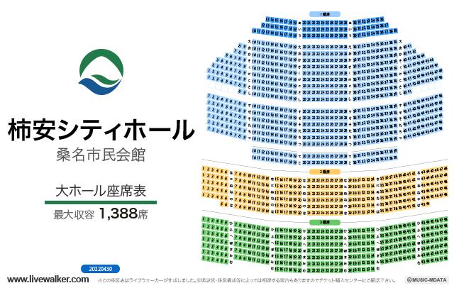 NTNシティホール(桑名市民会館)大ホールの座席表