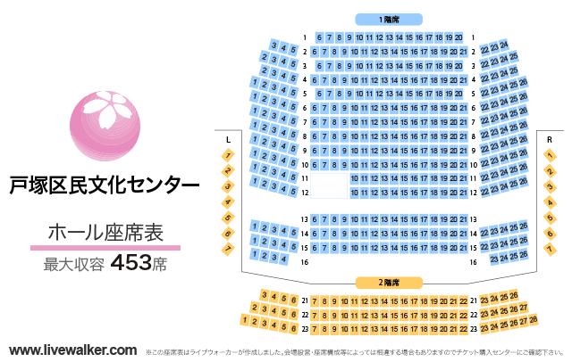 戸塚区民文化センターさくらプラザホールの座席表