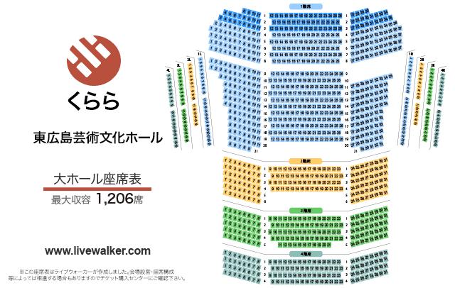 東広島芸術文化ホールくらら大ホールの座席表