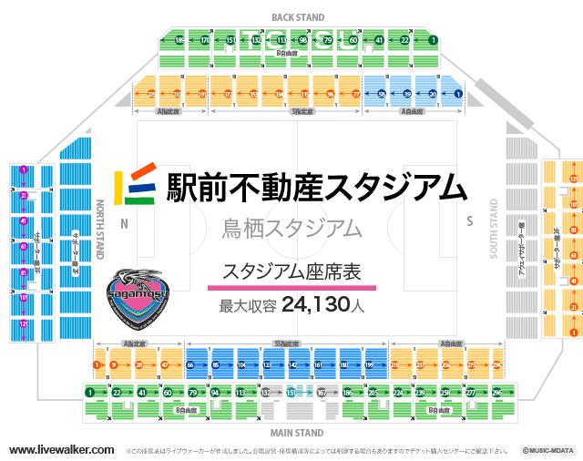駅前不動産スタジアムスタジアムの座席表