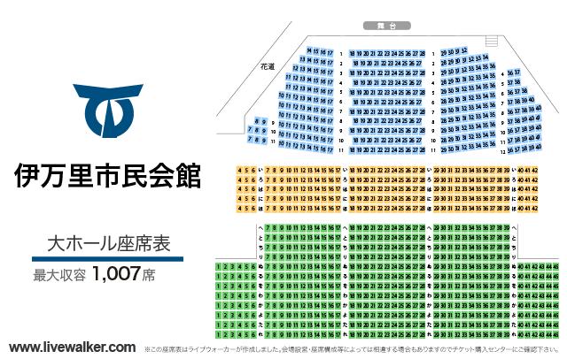 伊万里市民会館大ホールの座席表