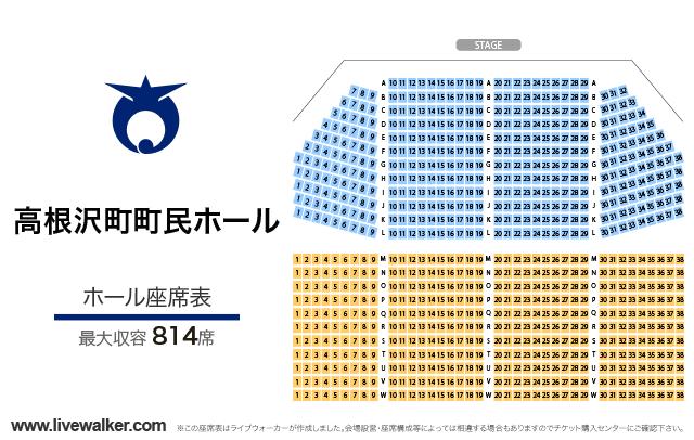 高根沢町町民ホールホールの座席表