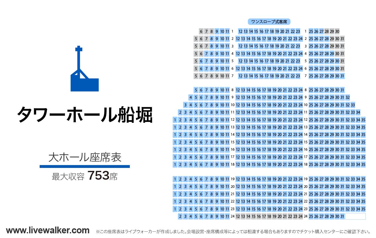 タワーホール船堀大ホールの座席表