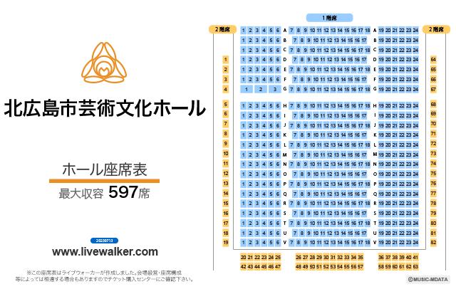 北広島市芸術文化ホール ホールの座席表