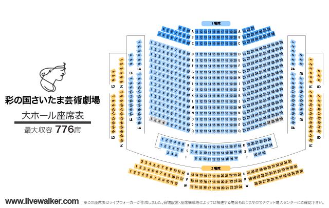 彩の国さいたま芸術劇場大ホールの座席表