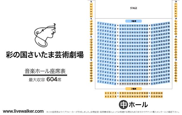 彩の国さいたま芸術劇場音楽ホールの座席表