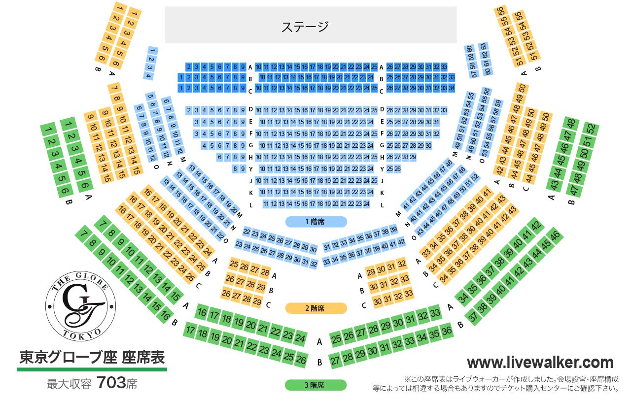 東京グローブ座東京グローブ座の座席表